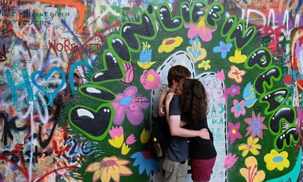 John Lennon wall_48 hours in Prague